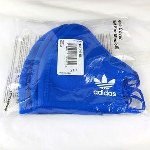 Adidas trefoil blue face mask 3 masks. New reusable.
